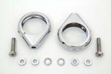 Chrome Turn Signal Clamp Kit 49mm Forks For Harley-Davidson