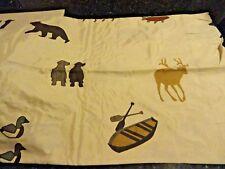 3 pc~TWIN SHEET SET~Fishing~Hunting Dogs~DEER~Ducks BEAR Cabin~LODGE Brown Tans