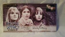 DR/DOCTOR WHO - TROUGHTON TRIO - AUTOGRAPHED COMMERATIVE STAMP COVER