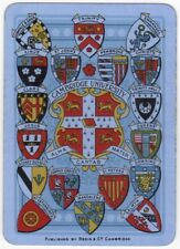 Playing Cards 1 Single Swap Card - Old Antique Wide CAMBRIDGE UNIVERSITY Crests