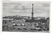 Berlin, Halensee-Straße m. Ausstellungsgelände u. Funkturm - Karte gel.1940
