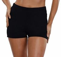 Swimsuit For All Chlorine Resistant Lycra Swim Boy Shorts Bottoms BLACK NWT 20 W