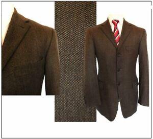 "Strellson Novara Mens Finest Lambswool tweed Jacket Blazer Ch40""S Brown mix"