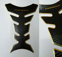 Tankpad Tankschutz Motorrad Carbon Optik Gold Schwarz universal Yamaha Suzuki