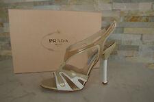 PRADA 40 talla Sandalias Sandals Zapatos Tacones Charol multicolor NUEVO