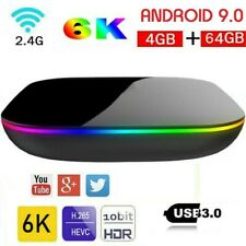 Q Plus Q-Box Android 9.0 Smart TV Box Quad Core 4+64G 6k HD 3D Media Player IPTV