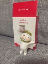 "Hallmark Keepsake 2016 ""Sweet Snow Angel"" Christmas Ornament GUC"