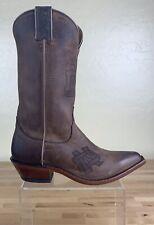 Nocona Boots Western Cowboy University Notre Dame Womens Size 6 B Brown