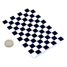 Chequered Flag A6 Vinyl Sticker Sheet Checkered Check Exterior Car Bike Decal