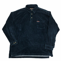 Vintage Marlboro Polo Shirt 2XL Blue Ribbed Blue
