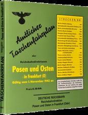 Amtlicher Taschenfahrplan Posen und Frankfurt (Oder) 1943 (Reprint)