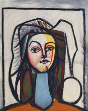 Pablo Picasso - Portrait Au Cou Bleu - Lithograph