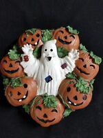 Talking Scary Music Wall Hanging 7 Jack-o-Lantern Pumpkins Ghost Halloween