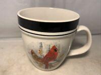 Folkcraft Stoneware Cardinal Large Mug Scotty Z