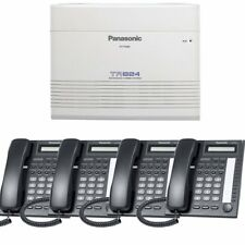 Panasonic KX-TA824-T7730PK4 (KX-TA824, 4 KX-T7730) Packages Black Brand New!