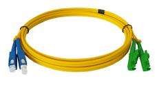 15m LWL E2000/APC-SC/UPC Patchkabel, OS2, Duplex, 9/125um, Lichtwellenleiter