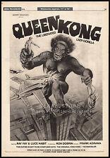 QUEEN KONG__Original 1976 Trade AD promo / poster__FRANK AGRAMA__Robin Askwith
