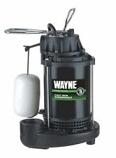 WAYNE CDU800 1/2 HP Submersible Cast Iron and Steel Sump Pump With Integrated...