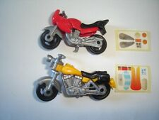MODEL MOTORCYCLES CRUISERS SET 1:64 H0 - KINDER SURPRISE PLASTIC MINIATURES