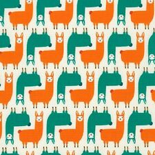 Robert Kaufman Cotton Fabric. Suzy'S Minis. Llamas in Park. By the FQ