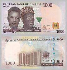 Nigeria 1000 Naira 2007 p36c unz.