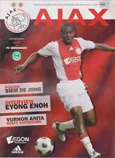 Programma / Programme Ajax Amsterdam v FC Groningen 18-10-2008
