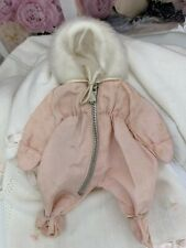 """Rare 8"""" Vogue Baby Ginnette Pink Snowsuit Bunting Ginny Doll Vintage Crisp Tag"""