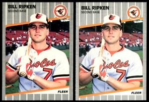 1989 Fleer Billy Ripken FF Error Card + Black Box Iconic Centered NM Orioles