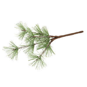 Frosted Spruce Pine Leaves - 15cm