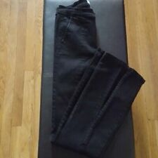 Free People Women's Size 28 Black Front Slit Flare Jeans