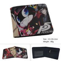 Men's Wallet Anime Persona 5 Short Bi-fold Wallet Women Card Coin Purse Wallet