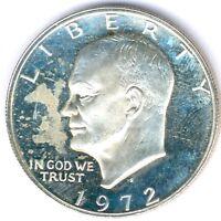 """USA 1 Dollar 1972 S. """"Dwight D. Eisenhower"""" 24,5g Silber KM#203a, vz/st aus PP"""