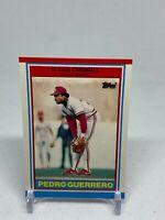 1989 Topps UK Minis St. Louis Cardinals Baseball Card #34 Pedro Guerrero