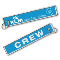 KLM-Crew Woven Keyrings x2