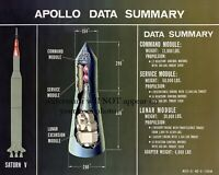 Apollo Capsule Cutaway PHOTO Schematic Lunar Module NASA Moon Mission 8x10