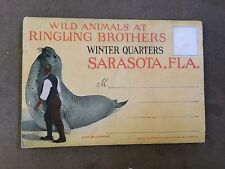 Rare Souvenir fold out –WILD ANMALS AT RINGLING BROTHERS WINTER QUARTERS SARASOT
