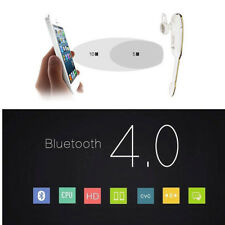 Bluetooth Wireless Headset Hands-free Stereo Sport Universal Headphone WhiteGold