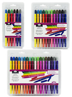 Dual Double End Artist Colouring Pens Felt Tip Markers Fine & Bullet Nibs