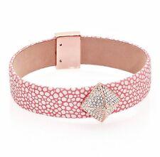 Michael Kors mkj5229791 Bangle Bracelet Leather in color Rose Gold Pink New