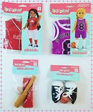 Debs BLUE Basketball Uniform /&BALL Doll Clothes For AG 14 Wellie Wisher Wishers