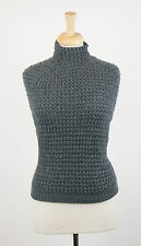 NWT BRUNELLO CUCINELLI Green Cashmere Knit Sweater Vest w/ Thermal Size S $3110