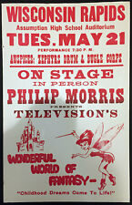 Original Philip Morris Wonderful World Of Fantasy Window Card