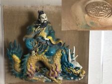 chinese figures statue Tile Signed