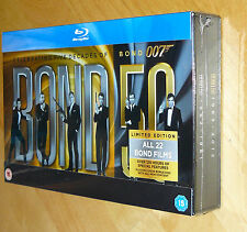 James Bond Complete Collection (Blu-ray, 2012, 22-Disc Box Set) Limited Edition