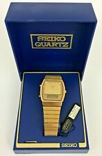 NEW Rare Vintage Seiko H601-5400 Duo-Display LCD Digital Watch With Box & Tag