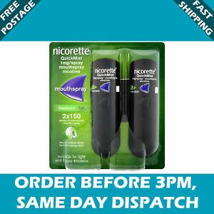Nicorette QuickMist 1mg/spray Mouthspray - Freshmint flavour- Duo Pack