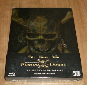 Pirates of the Caribbean Revenge Of Salazar Blu-Ray 3D + Blu-Ray Steelbook New