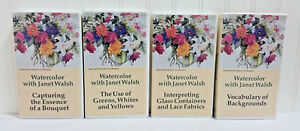 WATERCOLOR WITH JANET WALSH Complete Set 4 VHS Tapes Painting Instruction Videos
