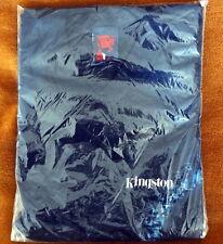 KINGSTON TECHNOLOGY PROMOTIONAL V NECK SHIRT DARK BLUE MEDIUM 100% COTTON k1r