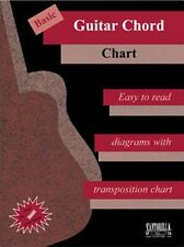 BASIC GUITAR CHORD CHART EASY TO READ w/ DIAGRAMS-NEW!